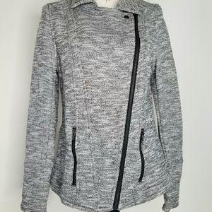 Market & Spruce L jacket gray white black zippers